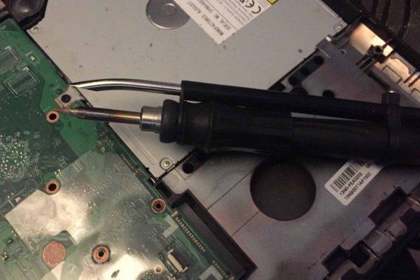 Réparation prise d'alimentation PC portable